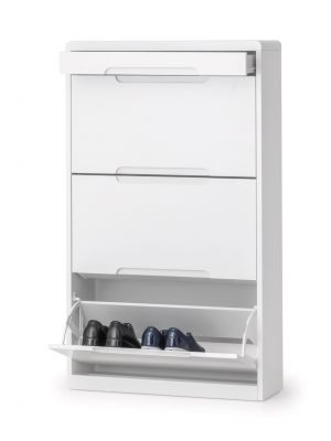 Manhattan High Gloss Shoe Cabinet with Drawer