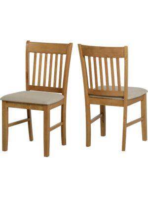 Oxford Chair in Natural Oak/Mink Microsuede (Pair)