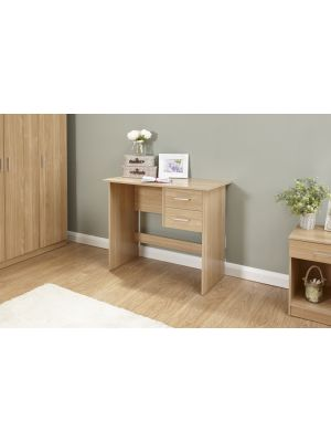 Panama Classic 2 Drawer Desk in Oak