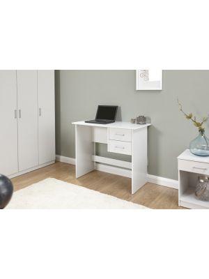 Panama Classic 2 Drawer Desk in White