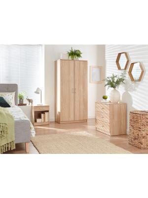 Panama Classic 3 Piece Bedroom Set in Oak