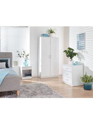Panama Classic 3 Piece Bedroom Set in White