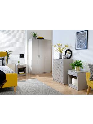 Panama Classic 4 Piece Bedroom Set in Grey