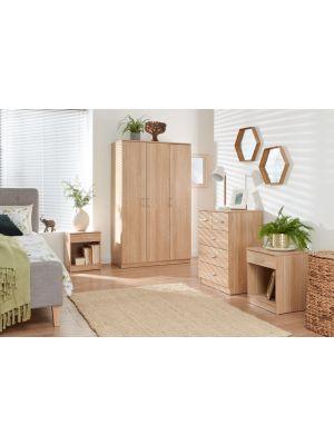 Panama Classic 4 Piece Bedroom Set in Oak