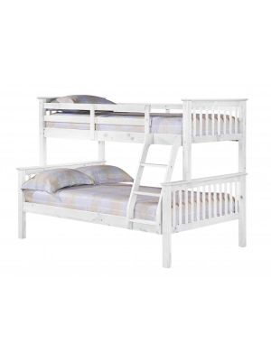 Porto Triple Sleeper White Bunk Bed