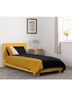 Prado Single Bed in Mustard Fabric