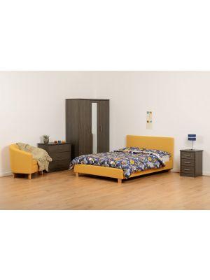 Prado Mustard Double Bed