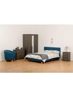 Prado Petrol Blue Double Bed
