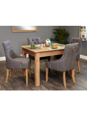 Mobel Oak Small Accent Dining Set