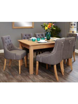 Mobel Oak Accent Dining Set