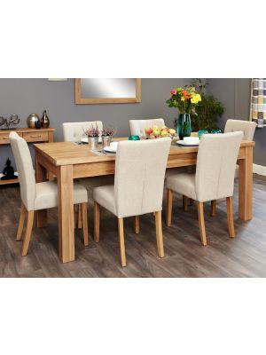 Mobel Oak Extending Oak Dining Set