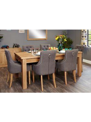 Mobel Oak Accent Extending Dining Set