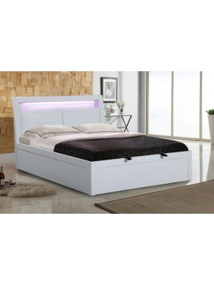 Tanya High Gloss King Size Storage Bed