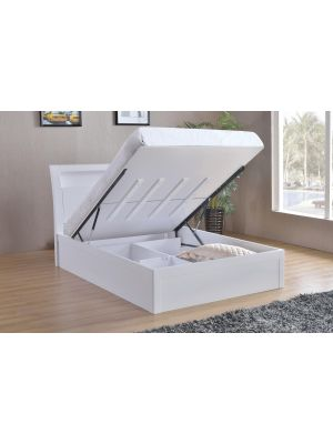 Tanya High Gloss Double Storage Bed